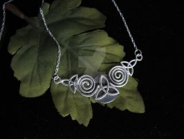 Celtic Spiral Necklace by camias