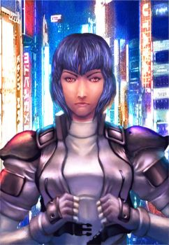 Motoko Kusanagi Ghost in the Shell by cric