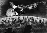 Brothers in Arms Music Video Drawing by Yankeestyle94