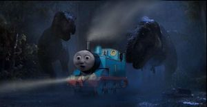 thomas in jurassic park uk by dinodanthetrainman