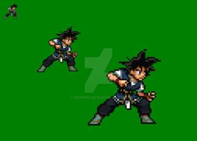 Goku in dragon ball absalon sprite by DenPro