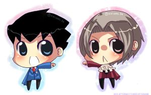Ace Attorney Chibi by Kaiami