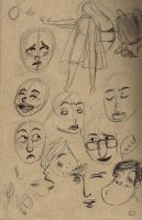 facial expression practice by TheOrangeGalaxy