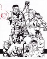 Cable VS Bishop by JesterretseJ