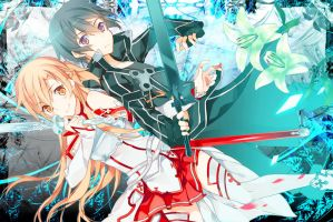 Sword Art Online Kirito and Asuna by kirigawakazuto