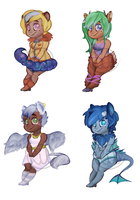 [[MYTHICAL GIRL - ADOPTS]] by mintykoneko