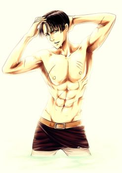 Yet another Levi (colored) by Raynated