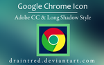 Google Chrome Icon in Long Shadow Style by draintred