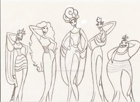 The Muses by PencilPonce