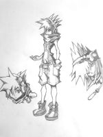 Drawings of Neku Sakuraba by DeadPhantoms