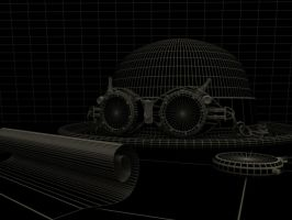Steampunk googles Wireframe by daskuehl