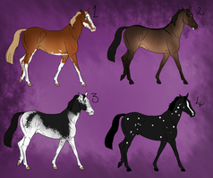 [ADVENT PRIZE] 4 Horse Designs - Enkue by Svavellitium