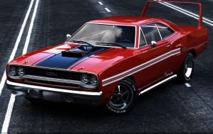 Muscle Car 1970 Plymouth GTX by TheCarloos