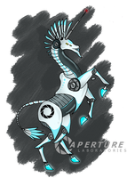 Portal Unicorn by QWERTYDragon00