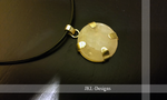 Rosequartz brass pendant by JKL-Designs