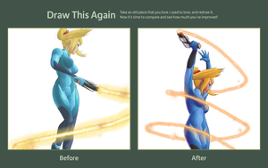 Draw this again - Zero suit samus by Callilf