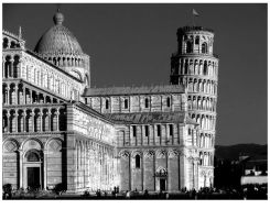 Pisa tower WhiteBlack by FrancescaDelfino