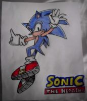 Sonic the Hedgehog Drawing by TheCoolCosplayer22