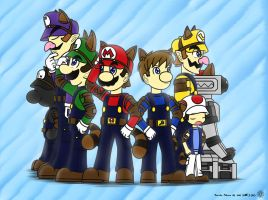 Super Plumber Bros by ME-zero
