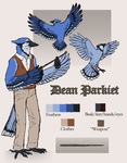 Parlor Mob: Parkiet Reference by Canis-ferox