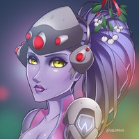 Widowmaker under the Mistletoe by velladonna