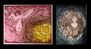 Etching -Wings simplicity- by Bea-Gonzalez