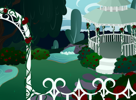 .:MLP: GIFT: Rose Garden Background:. by BritishMindslave