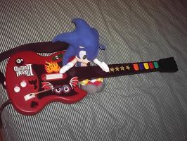 Sonic stole my Guitar by elfofcourage