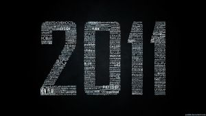 2011 Typographic wallpaper BW by Yurik86