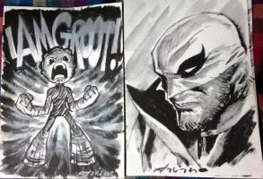 groot/iron fist con sketch by flavianos