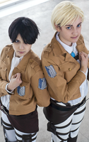 Erwin and Levi by socksyy