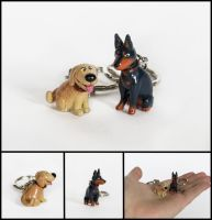 Up's Dug and Alpha Charms by WispyChipmunk