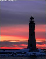 Lighthouse Sunset II by Nytmair