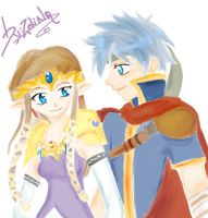 ike and princess zelda by Caito-Pescaito