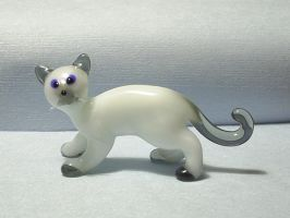 Glass Cat Himalaya by Glasmagie