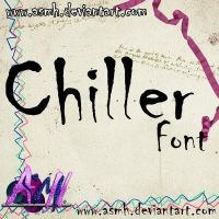 Chiller Font by ASMH