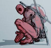 deadpool doodle by 89g