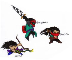 Gear Hunters: Main Characters by skydemonx7