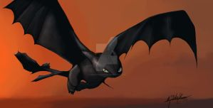 Toothless - How To Train Your Dragon by pixiemotionpotion