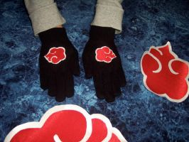 AKATSUKI CLOUD GLOVES by SamKalensky