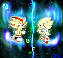 Silent Universe - Sonic and Shadow by WendySakana