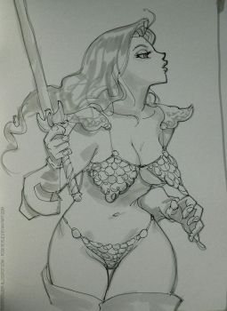 Artbook/redsonja by rogercruz