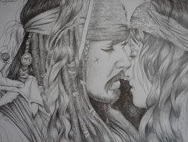 Jack Sparrow and Angelica by LindyvandenBosch