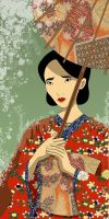 Traditional Japanese woman by laura-csajagi