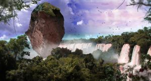 Jungle of the planet Iguazu by TheCoredump