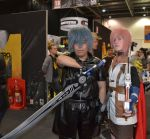 Noctis and Lightning Cosplay 2 by mikeykira