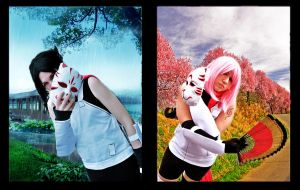 SasuSaku_Rain and Sun by SoulOfPersephone