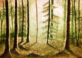Woodland Summers by Ane-Artworks