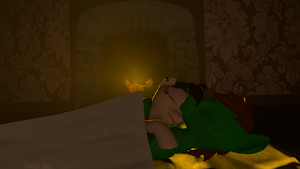Sleeping by the fire place by sjf95fighter