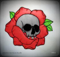 Skull and the Rose by CarlosAE
